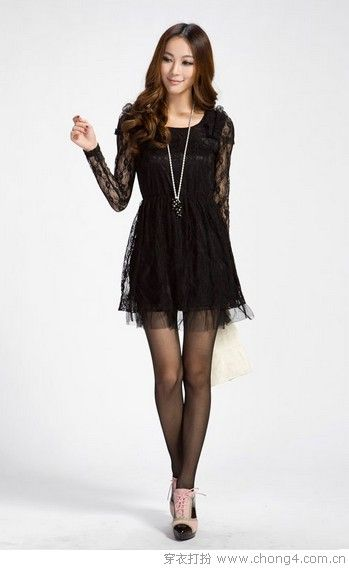 量身订制的美 松紧腰连衣裙