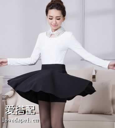 你和半身裙一起演绎知性和优雅