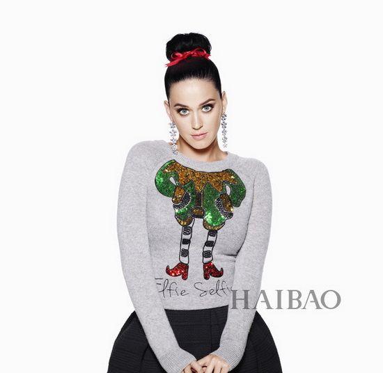 Katy Perry可爱演绎H&M全新假日系列广告