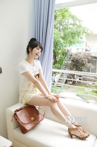 韩网美模展示19款夏日清爽美搭