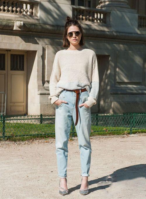 穿腻了裙装换裤装 8款时髦牛仔裤穿搭
